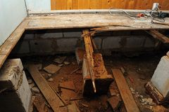 Ricostruzione del pavimento Immagini Stock Libere da Diritti