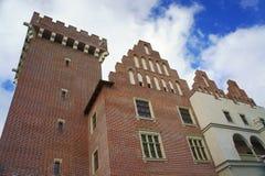 Ricostruzione del re Przemyslaw del castello Immagine Stock