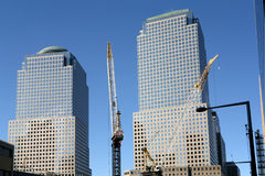 Ricostruzione del World Trade Center Fotografia Stock Libera da Diritti