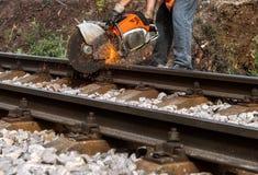 Ricostruzione della ferrovia Fotografia Stock