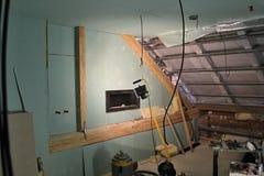 Ricostruzione della soffitta fotografia stock libera da diritti