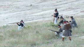 Ricostruzione di battaglia di Balaclava video d archivio