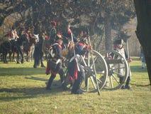 Ricostruzione di Napoleon Wars Fotografia Stock Libera da Diritti