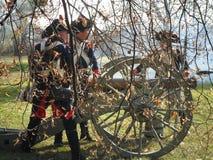 Ricostruzione di Napoleon Wars Canons Fotografia Stock