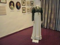 Ricostruzione di un abbigliamento di Sophie Torok di 1800 al museo del castello di Palanok immagini stock libere da diritti