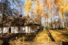 Ricostruzione di un'abitazione dell'uomo in Pereyaslav-Khmelnitsky, Ucraina immagini stock libere da diritti