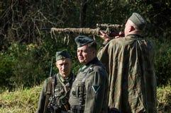 Ricostruzione di una battaglia della guerra mondiale 1941 2 nella regione di Kaluga di Russia Immagini Stock