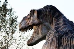Ricostruzione indicativa del dinosaurus predatore - Ostellato, Ferrara, Italia Immagini Stock