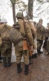 Ricostruzione storica militare Immagine Stock