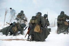 Ricostruzione storica militare della seconda guerra mondiale Fotografie Stock Libere da Diritti