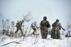 Ricostruzione storica militare della seconda guerra mondiale Immagini Stock