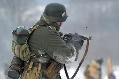Ricostruzione storica militare della seconda guerra mondiale Fotografie Stock