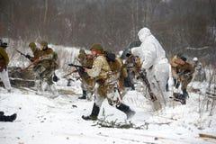 Ricostruzione storica militare della seconda guerra mondiale Immagine Stock