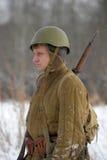 Ricostruzione storica militare della seconda guerra mondiale Immagini Stock Libere da Diritti