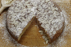 Ricotta Almond Cake Royalty Free Stock Image
