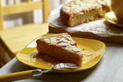 Ricotta Almond Cake Stock Images
