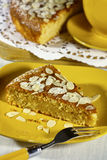 Ricotta Almond Cake Royalty Free Stock Photos