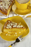 Ricotta Almond Cake Stock Photos