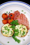 Ricotta And Bacon Breakfast 3 Royalty Free Stock Images
