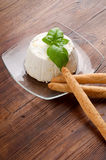 Ricotta and breadstick Royalty Free Stock Image