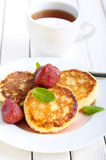 Ricotta cakes Royalty Free Stock Images