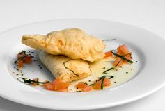 Ricotta Calzone Stock Photo