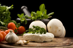 Ricotta cheese Royalty Free Stock Photos