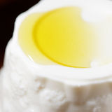 Ricotta cheese and olive oil Royalty Free Stock Photo