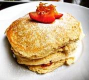 Ricotta Cheese Pancake Stock Photo