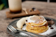 Ricotta cheese pancake Royalty Free Stock Photography