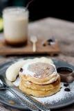 Ricotta cheese pancake Stock Photography