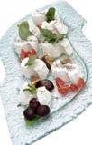 Ricotta cheese with tomato Stock Photo