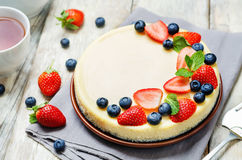 Free Ricotta Cheesecake Royalty Free Stock Photography - 84549367