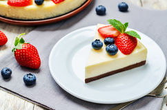 Ricotta cheesecake Royalty Free Stock Image
