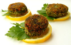Ricotta cutlets Stock Images