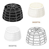Ricotta.Different kinds of cheese single icon in cartoon style vector symbol stock illustration web. Stock Images