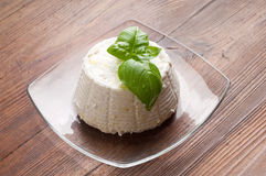 Ricotta on dish Stock Images