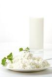 Ricotta e latte immagine stock libera da diritti
