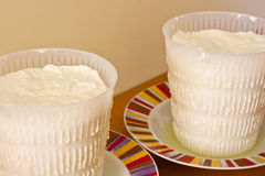 Ricotta, italian cheese Royalty Free Stock Photography