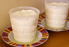 Ricotta, italian cheese Royalty Free Stock Images