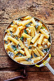 Ricotta Italian noodles with spinach Stock Photography