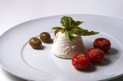 Ricotta italiano do queijo Imagem de Stock