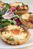 Ricotta quiches or tarts Royalty Free Stock Photo