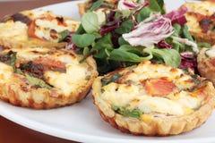Ricotta quiches or tarts Stock Photo