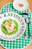 Ricotta ravioli Stock Photo