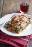Ricotta and Spinach Lasagna Stock Images