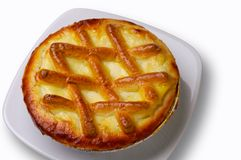Ricotta tart closeup with clipping path Stock Photo