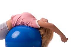 Ricreazione della sfera di Pilates Fotografie Stock Libere da Diritti