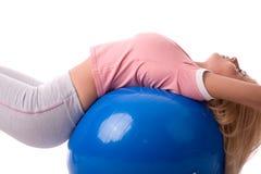 Ricreazione della sfera di Pilates Immagine Stock Libera da Diritti