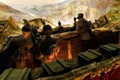 Ricreazione di lotta della prima guerra mondiale fotografia stock libera da diritti
